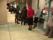 The line at Louis Joliet Mall on 4/14/15 for the the new Mortal Kombat
