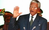 Served as the 1st Black President of South Africa