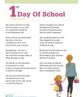 First Day of School - Girl