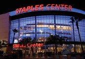 Staples center in Los Angels
