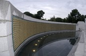 The wall of tribute  at the WWII Memorial