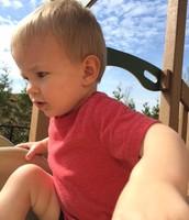 Mason loves the slide!