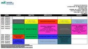 Horario 6to. Semestre Mercadotecnia Internacional.