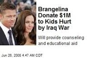 Brangelina Donates $1 million to Kids Hurt by Iraq War