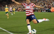 Abby playing on the U.S national team