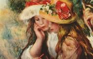 """Огюст Ренуар """"Две девушки, читающие в саду"""""""