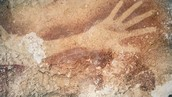 Oldest known hand stencil