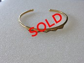 Pave Chevron Cuff, Gold - $20
