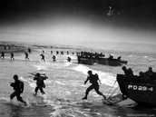 Troops storm the beach on D-Day