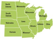 The States In The Midwest