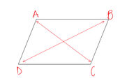 Opposite angles bisect each other