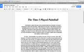 Paintball essay
