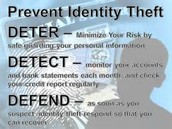 What are ways to prevent identity theft?