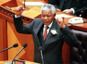 Nelson Mandela during his 1994 State of the Nation Address