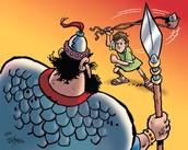 """הקרב בין דוד לגוליית בשפת התנ""""ך"""