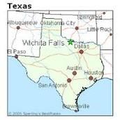 Location of Wichita Falls