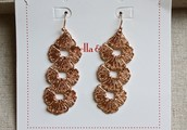 Geneve Lace Earrings - Rose Gold