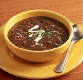 La sopa: mil cuatrenta y cinco colónes.