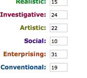onet interest profiler