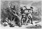 Native Americans attacking Americans