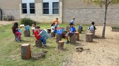 Enjoying the Outdoor Learning Center