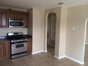 Stainless Steel Stove and Over Range Microwave included!