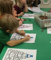 Coloring Christmas trees