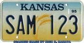 Kansas licence plate