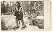 Ojibwe Man on Snowshoes