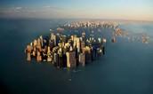 Rising in sea level