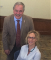 Dana with Superintendent Woods at Standards Review