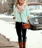 Street walk in winter