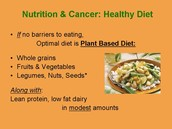 Definiton of cancer diet