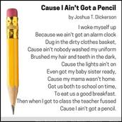 Cause I Ain't Got a Pencil
