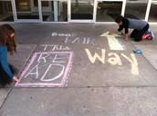 Creating art for book fair