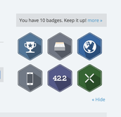 There are many more badges to earn!