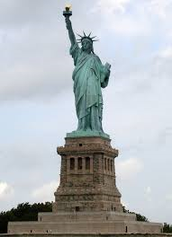 Political - Statue of liberty is dedicated