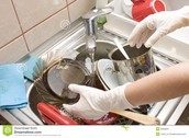 Wash dishes when the sink is full