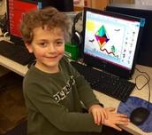 Kinders creating Spring illustration