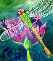 "New Painting! ""Dragonfly"""