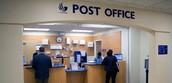 Fui a la oficina de correo y echó una carta.
