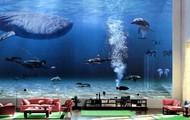An aquarious living room