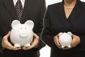 Men have bigger paychecks than women.