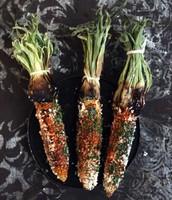 Mexican styled roasted corn (mil doscientos trienta y tres, 1.233)