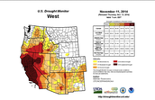 U.S Drought Monitor (West)