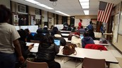 Students working on FAFSA to kick off the FAFSA Lock In.