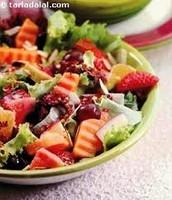 La ensalada de frutas mixta