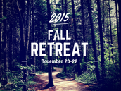 Student Fall Retreat, November 20-22