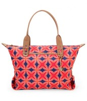 How Does She Do It - Navy & Red Medallion