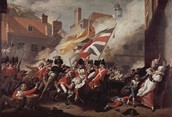 The Americans and the British during the battle of Quebec